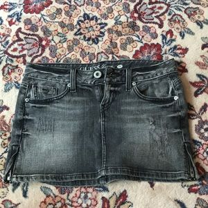 Distressed Guess Jean Skirt